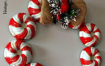 Candy Striped Vintage Jello Mold Wreath