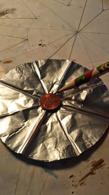 aluminium foil polish stars, christmas decorations, crafts, repurposing upcycling