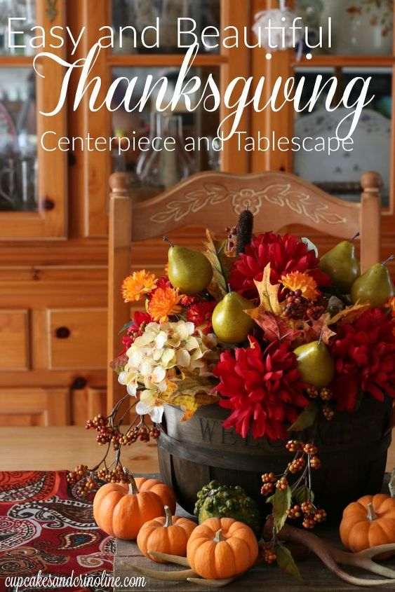 easy and beautiful thanksgiving tablescape and centerpiece, seasonal holiday decor, thanksgiving decorations