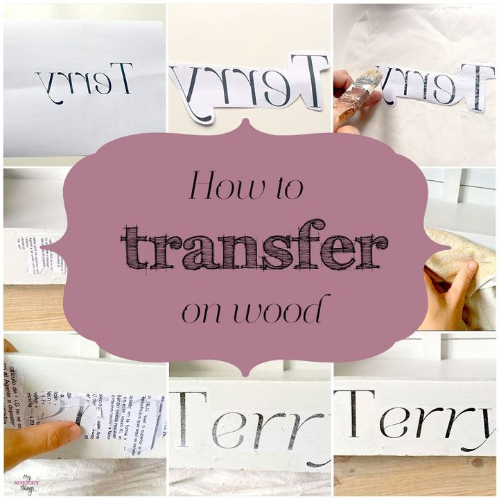 how to transfer on wood, crafts, how to