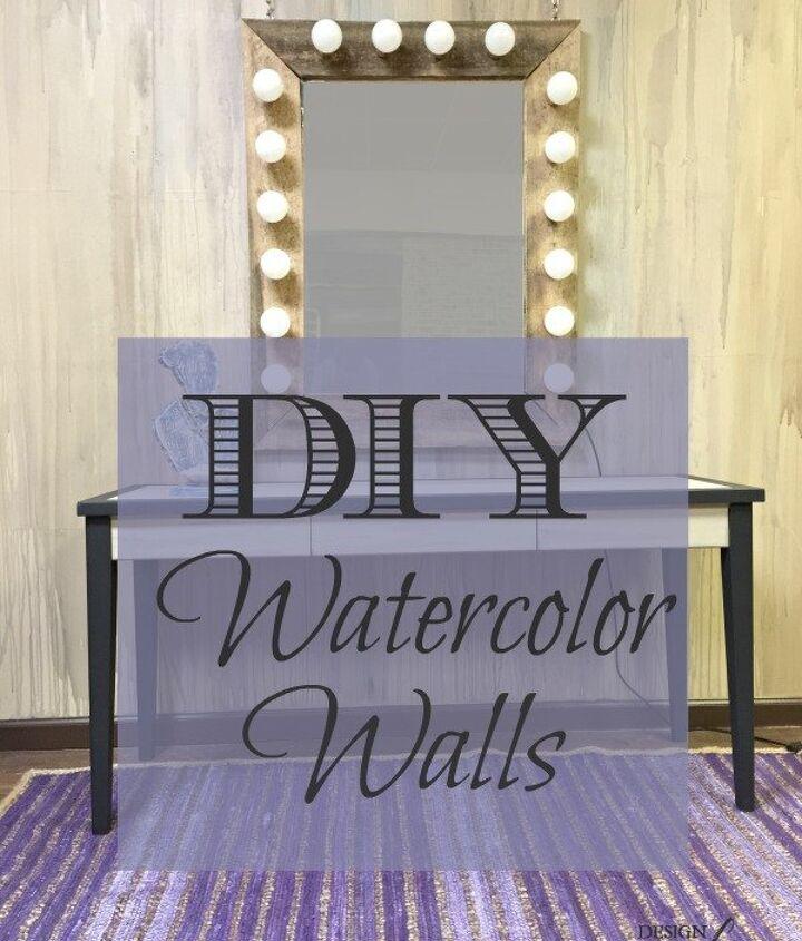 diy watercolor walls, diy, painted furniture, painting, wall decor