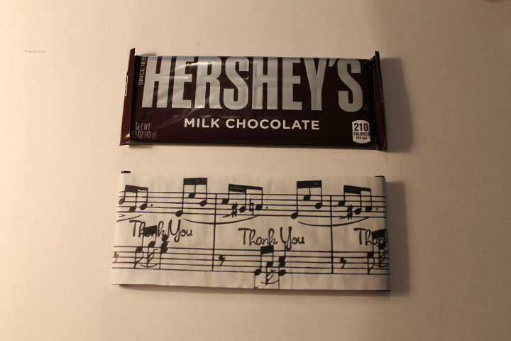 Custom Candy Bar Party Favors Wrapped In Sheet Music Hometalk