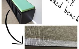 diy bench cushions, diy, painted furniture, repurposing upcycling, storage ideas