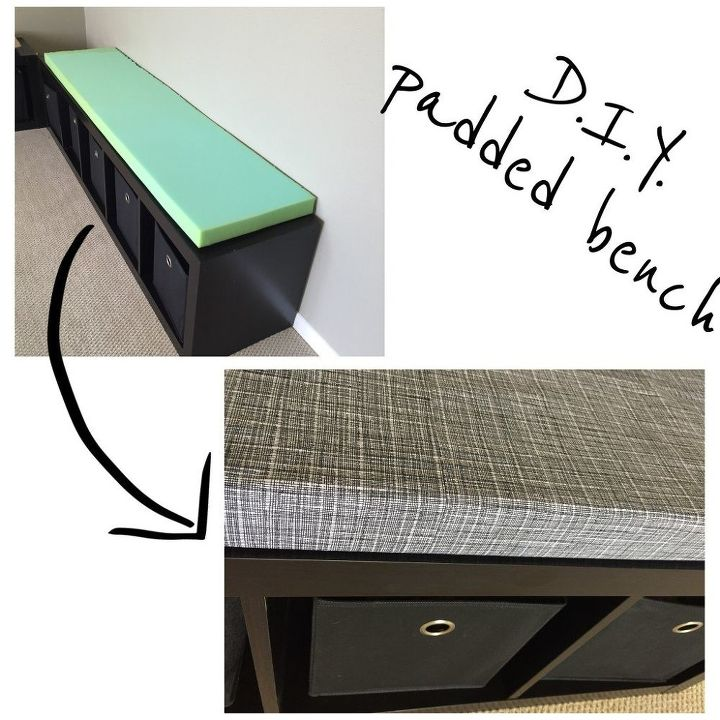 diy bench cushions, diy, painted furniture, repurposing upcycling, storage ideas