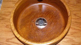 To Make A Sink In My Airstream I Used Forstner Bit The Lip For Hole Drain They Boats Out Of Teak And It Works Well