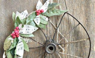 diy rustic christmas wreath, christmas decorations, crafts, wreaths
