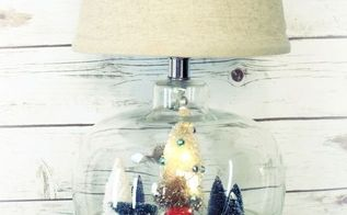 thrift store lamp easily transformed into christmas decor, christmas decorations, lighting, repurposing upcycling