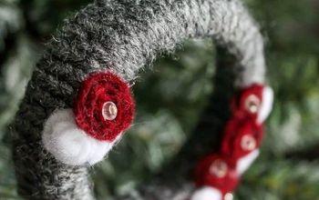 Mini Grey Wreath Christmas Ornaments