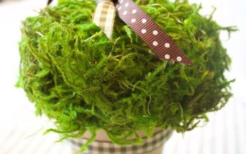 Easy DIY Moss-Covered Pumpkin Placecard