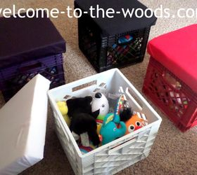 diy crate stools for toy storage entertainment rec rooms organizing repurposing upcycling & DIY Crate Stools for Toy Storage | Hometalk islam-shia.org