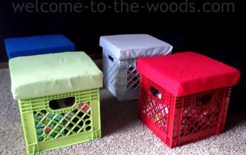 diy crate stools for toy storage, entertainment rec rooms, organizing, repurposing upcycling, storage ideas