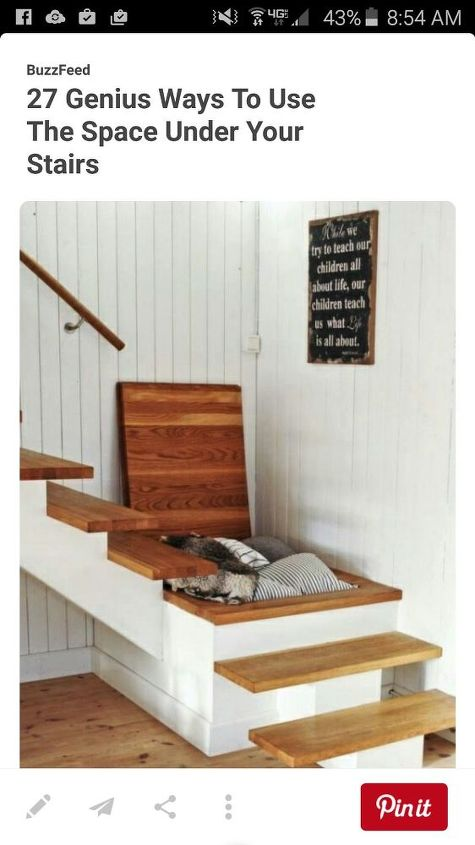 q does anyone know how i could do this, home improvement, organizing, stairs