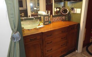 repurpose a french provicial dining room buffet, painted furniture