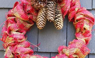 burlap a coat hanger make a wreath, christmas decorations, crafts, wreaths