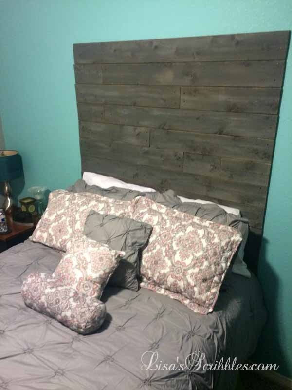 copycat custom cedar headboard, bedroom ideas, diy, home decor, wall decor, woodworking projects