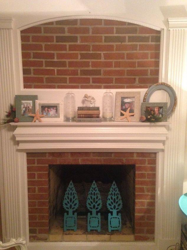 Too Afraid To Paint My Brick Fireplace Quick Change Make It Pop Concrete Masonry