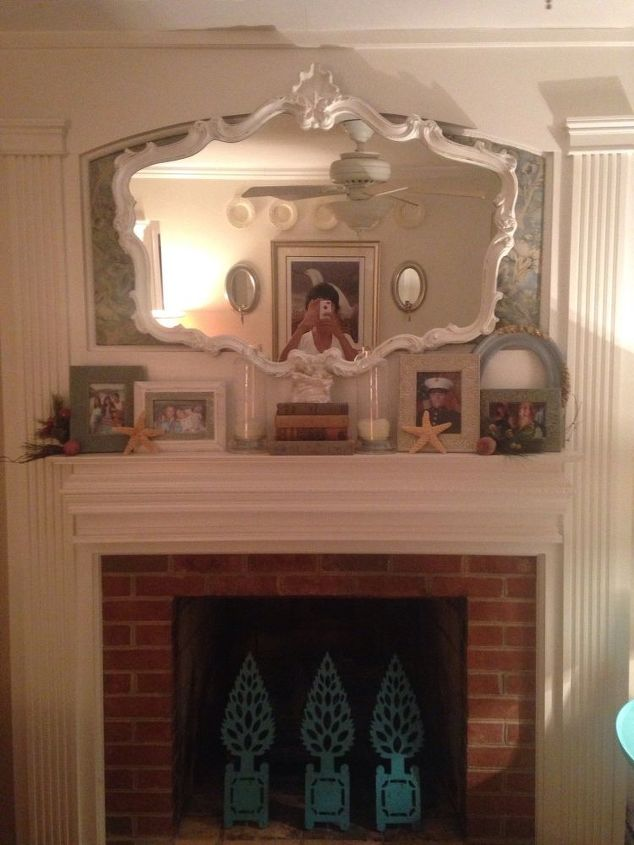 Too Afraid To Paint My Brick Fireplace Quick Change To
