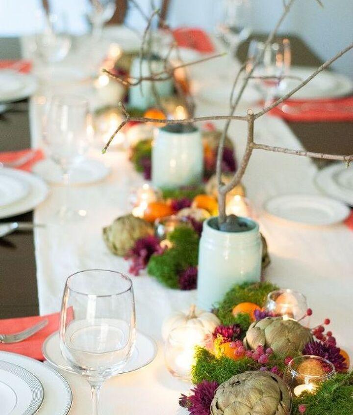 jewel toned thanksgiving table, seasonal holiday decor, thanksgiving decorations