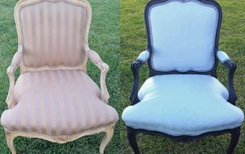 Take That Old Chair From Drab to Fab! Chalk Painting Fabric Tutorial