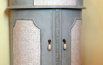 Table Makeover With Chalky Paint and Scrapbook Paper