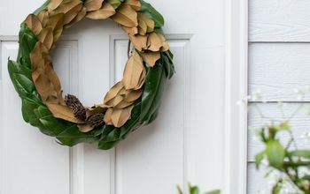 make a fresh magnolia wreath, crafts, flowers, wreaths