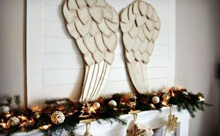 beautiful large angel wings make them for next to nothing, christmas decorations, crafts