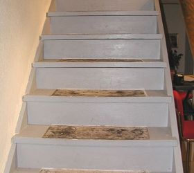 Painted Stairs Part - 21: Diy Make Your Painted Staircase Look Like Real Wood Again, Painting, Stairs