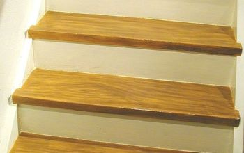 DIY Make Your Painted Staircase Look Like Real Wood Again