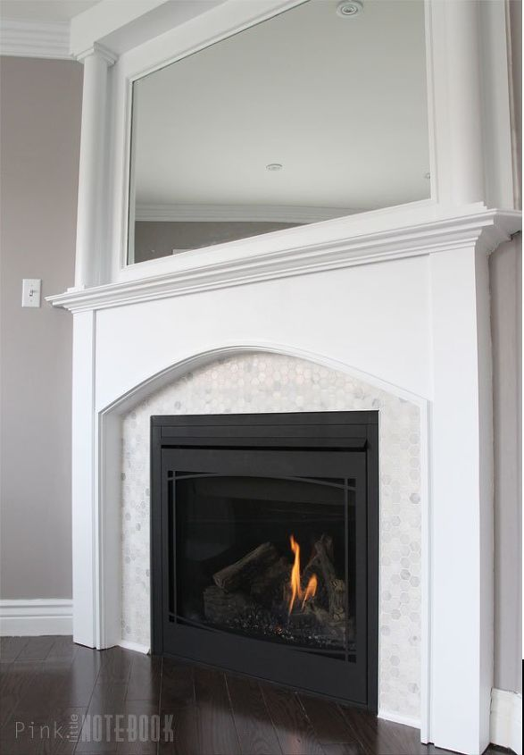 fireplace makeover before after, diy, fireplaces mantels, living room ideas, wall decor