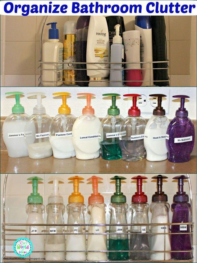 organize bathroom clutter, bathroom ideas, organizing, storage ideas
