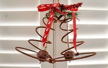 repurposed bed spring christmas bells, christmas decorations, repurposing upcycling, seasonal holiday decor, Repurposed Christmas Bells