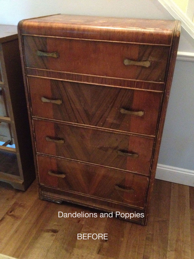 A Sad Art Deco Dresser Rescued By The Fairy Painted Furniture
