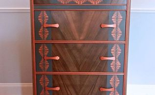 a sad art deco dresser rescued by the dresser fairy, painted furniture
