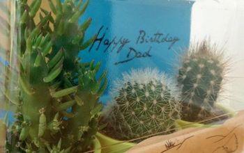 ikea cactus gift wrap, crafts