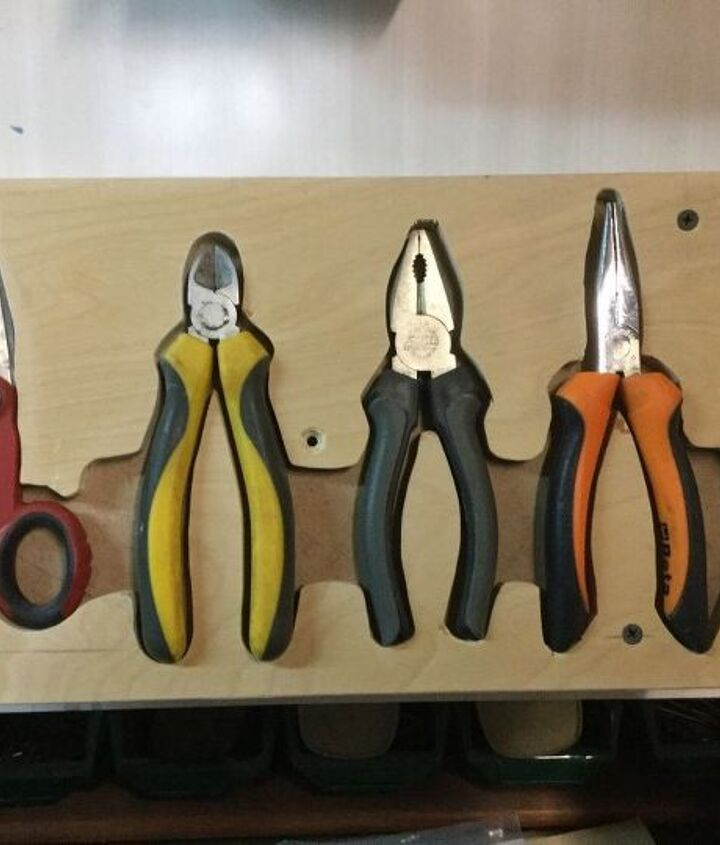plier rack, diy, organizing, tools, woodworking projects