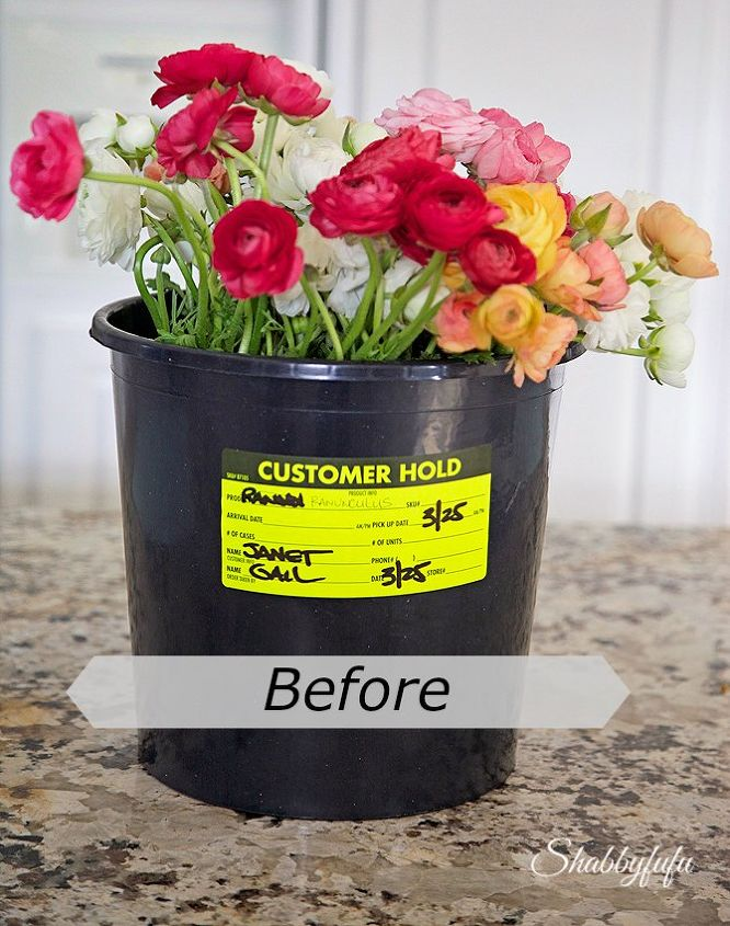 How To Transform A Flower Bucket In Under An Hour DIY Hometalk - Artist turns nyc trash cans into giant flower filled vases