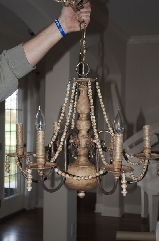 Diy brass chandelier makeover on the cheap hometalk diy brass chandelier makeover on the cheap how to lighting repurposing upcycling aloadofball Choice Image