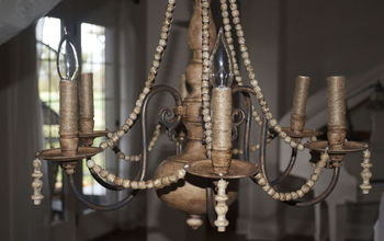 DIY Brass Chandelier Makeover on the Cheap