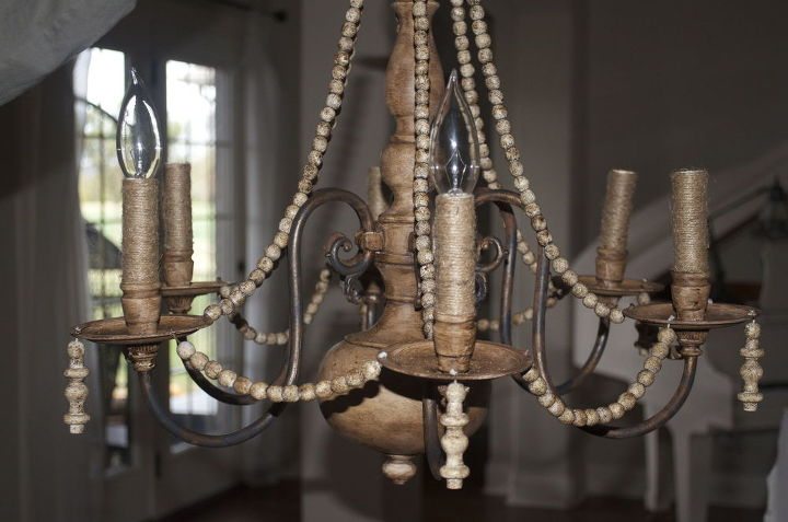 Diy brass chandelier makeover on the cheap hometalk diy brass chandelier makeover on the cheap how to lighting repurposing upcycling aloadofball Images