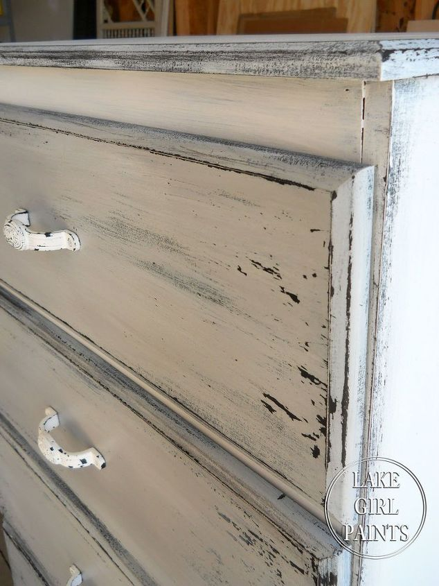 get the gray and white chippy look on your old furniture, painted furniture  - Get - Painting Furniture White Antique Look Antique Furniture