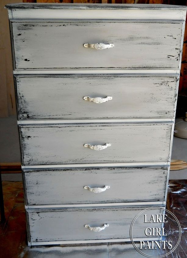 Get the Gray and White Chippy Look on Your Old Furniture | Hometalk