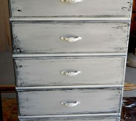 Get The Gray And White Chippy Look On Your Old Furniture Hometalk