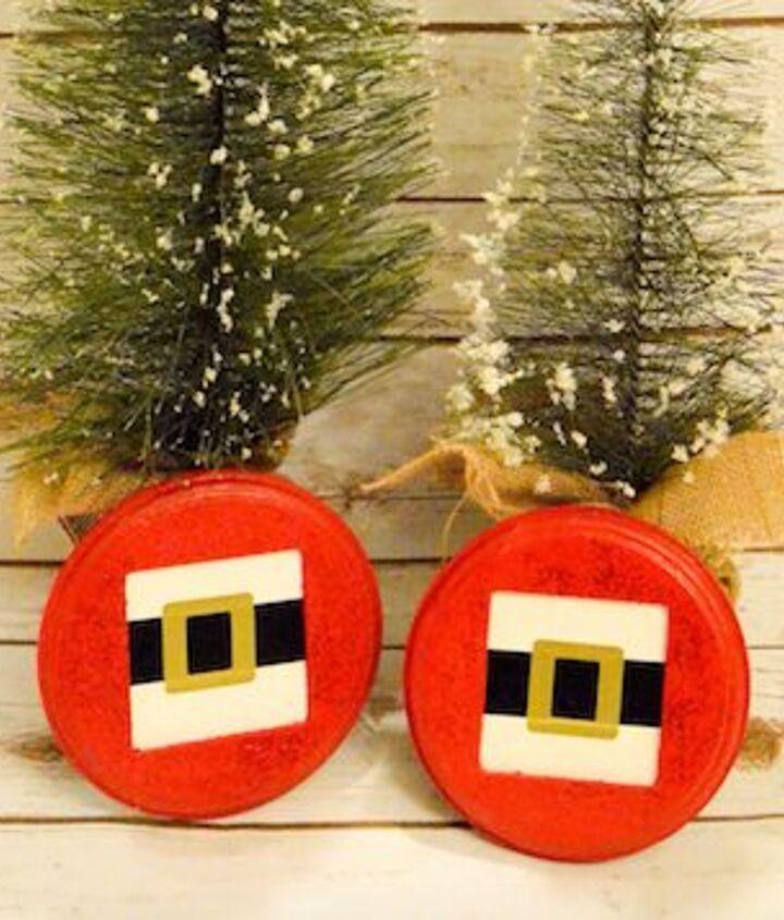 santa s belt buckle decoration, christmas decorations, crafts