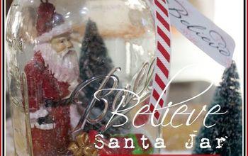 "Easy ""Believe"" Santa Mason Jar Snow Globe"