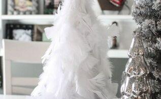 diy feather christmas tree, christmas decorations, crafts, seasonal holiday decor