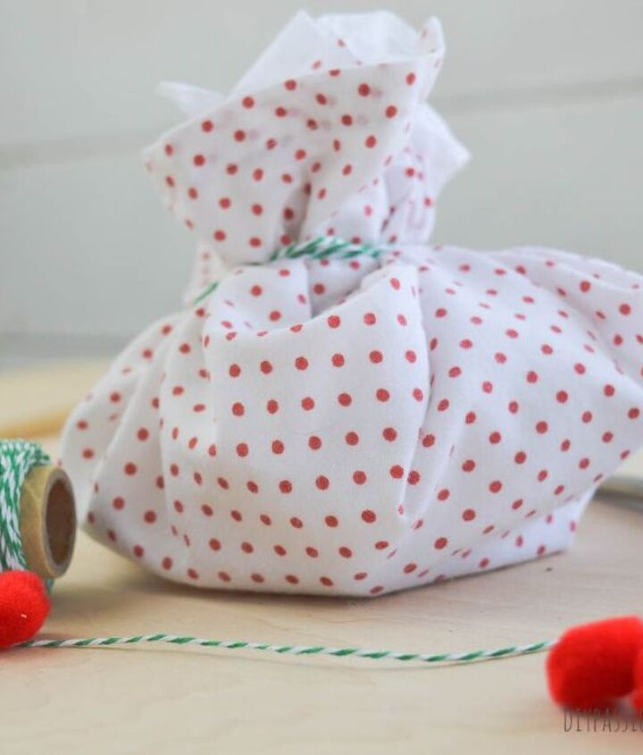 super easy diy doggie christmas treat pouches, christmas decorations, crafts, pets animals, seasonal holiday decor