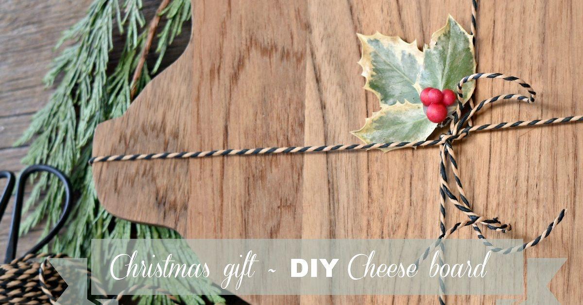 Christmas Gift Diy Cheese Board Hometalk