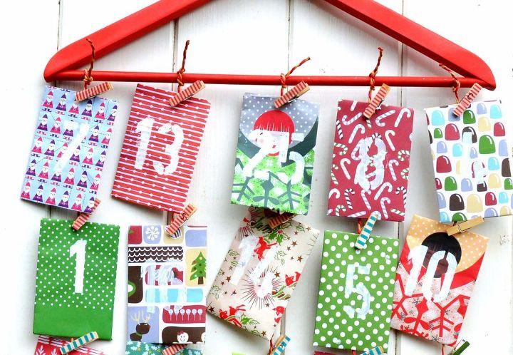 homemade paper envelope advent calendar, christmas decorations, crafts, seasonal holiday decor
