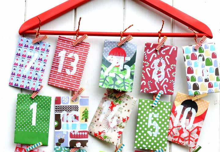 homemade paper envelope advent calendar hometalk