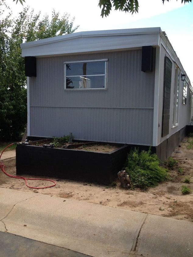 renovated mobile home landfill save mh4, curb appeal, diy, home improvement